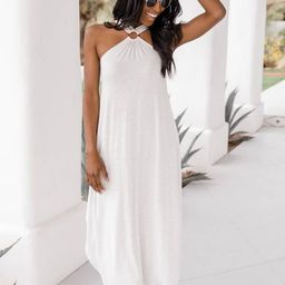 Feel That Sunshine Maxi Dress Grey | The Pink Lily Boutique