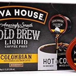 JAVA HOUSE Cold Brew Coffee, Colombian Medium Roast Coffee Concentrate Liquid Pods - 1.35 Fluid O...   Amazon (US)