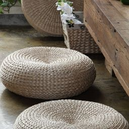Round rustic floor cushions Zafu Zabuton floor pouf Straw pouf | Etsy | Etsy (AU)