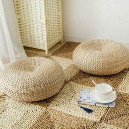 Natural Straw Round Ottoman Tatami Cushion Chair Cushion Floor | Etsy | Etsy (AU)