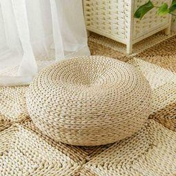 Natural Straw Round Ottoman Tatami Cushion Floor Chair Cushion | Etsy | Etsy (AU)