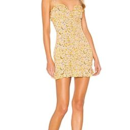 superdown AJ Ruffle Cami Dress in Yellow Floral from Revolve.com | Revolve Clothing (Global)