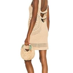 House of Harlow 1960 x Sofia Richie Aylah Crochet Dress in Almond from Revolve.com | Revolve Clothing (Global)