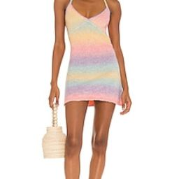 Frankies Bikinis Debbie Knit Dress in Pink Rainbow from Revolve.com | Revolve Clothing (Global)