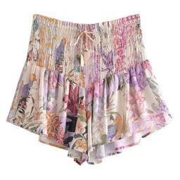 'Becky' Ruched Floral Shorts   Goodnight Macaroon