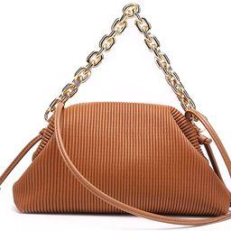 Women Dumpling Bag Leather Shoulder Bag Cloud Pouch Bag Satchel Handbag   Amazon (US)