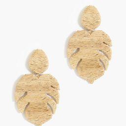 Sand Raffia Palmer Earrings | Tuckernuck (US)