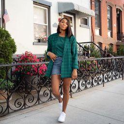 Vintage 70s Green Plaid Blazer | Etsy (US)