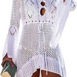 Wander Agio Beach Tops Sexy Perspective Cover Dresses Bikini Cover-ups Net Coverups   Amazon (US)