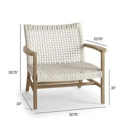 Isola Lounge Chair in Weathered Finish | Frontgate