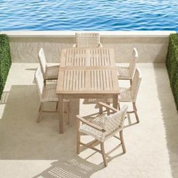 Isola 7-pc. Rectangular Dining Set in Weathered Finish | Frontgate