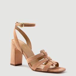 Annetta Suede Huarache Heeled Sandals | Ann Taylor | Ann Taylor (US)
