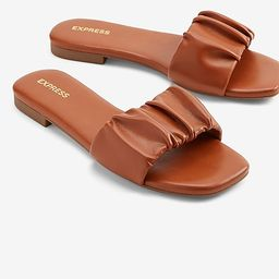 Ruched One Band Slide Sandals | Express