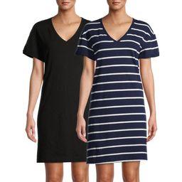 Time and Tru Women's 2 pack T-Shirt Dress | Walmart (US)
