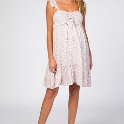 Lavender Floral Ruffle Sleeveless Maternity Mini Dress | PinkBlush Maternity