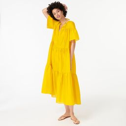 Tiered cotton voile beach dress   J.Crew US