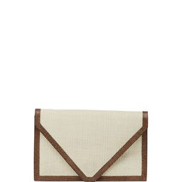Hunting Season Lizard-Trim Envelope Clutch Bag | Neiman Marcus
