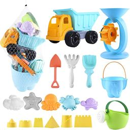 Auney Beach Toys Set for Kids 20 PCS - Sand Water Wheel, Castle Molds, Truck Bucket, Beach Shovel... | Amazon (US)