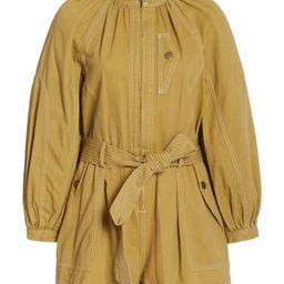 Piper Belted Cotton Playsuit   Moda Operandi (Global)