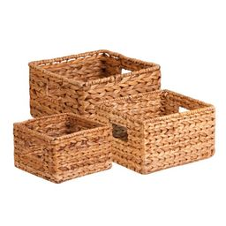 Honey Can Do Durable Nesting Water Hyacinth Baskets, Brown (Set of 3)   Walmart (US)