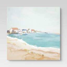 """24"""" x 30"""" Abstract Houses by the Beach Wall Canvas - Threshold™ 