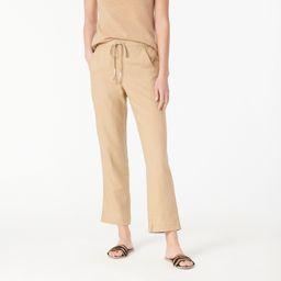 Tie-waist seaside pant in linen blend   J.Crew US