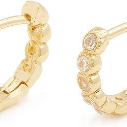 gorjana Women's Madison Shimmer Huggies Mini Hoop Earrings, 18K Gold Plated, Huggie Hoops   Amazon (US)