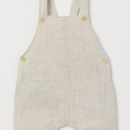 Linen Overall Shorts   H&M (US)