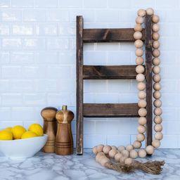 Extra Long Wood Bead Garland, Natural Beads, Jute Tassels, Farmhouse Style, Home Decor, Farmhouse... | Etsy (US)