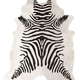 White Zebra Cowhide 5' x 7' Area Rug | Rugs USA