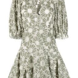 floral open-knit mini dress   Farfetch (US)