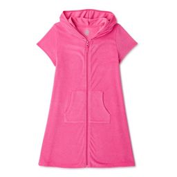 Wonder Nation Girls Hooded Terry Cloth Cover-Up, 4-16 & Girls Plus   Walmart (US)