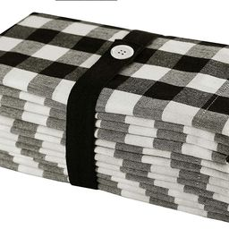 Orient Originals Ideal Buffalo Check Set of 12 Tailored Pure Cotton Dinner Napkins, 20 inch x 20 ... | Walmart (US)
