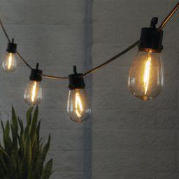 Better Homes Gardens Solar LED String Lights, 15 Filament Bulbs, 34 Foot Length, 120 Lumens | Walmart (US)