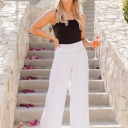 Stolen Kiss White Beach Pants   The Pink Lily Boutique