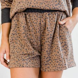 My Wild Side Animal Print Brown Shorts   The Pink Lily Boutique
