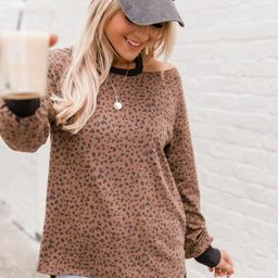 My Wild Side Animal Print Brown Blouse   The Pink Lily Boutique