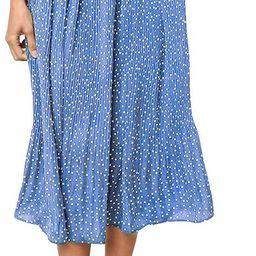Exlura Womens High Waist Polka Dot Pleated Skirt Midi Maxi Swing Skirt with Pockets   Amazon (US)
