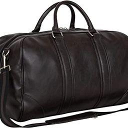 "Ben Sherman 20"" Vegan Leather Travel Duffel Bag Top Zip Weekender Carry-On Duffle Luggage, Brown   Amazon (US)"