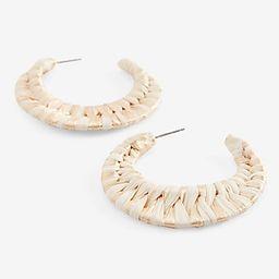 Raffia Woven Hoop Earrings   Express
