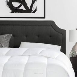 Brookside Upholstered Scoop-Edge Full XL Headboard with Square Tufting in Charcoal-BSFFSCSTCHHB -... | The Home Depot