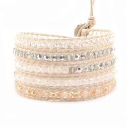 Silver & Cream Crystals on Ivory | Victoria Emerson