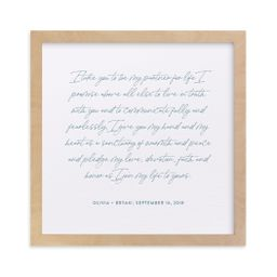 Your Vows as a Letterpress Art Print   Minted