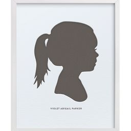 Custom Silhouette Letterpress Art   Minted