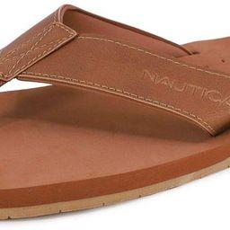 Nautica Men's Tayrona Flip Flop, Rustic Style Fabric Lined, Beach Sandal | Amazon (US)
