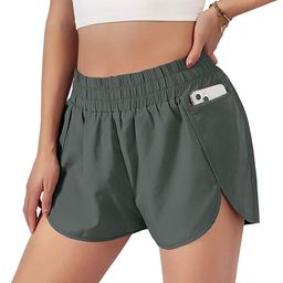 Blooming Jelly Womens Quick-Dry Running Shorts Sport Layer Elastic Waist Active Workout Shorts wi... | Amazon (US)