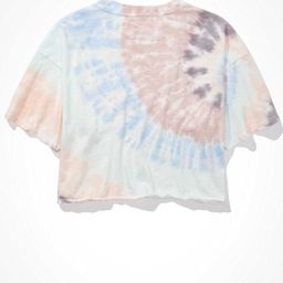 AE Cropped Tie-Dye Crew Neck T-Shirt   American Eagle Outfitters (US & CA)