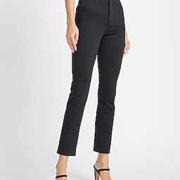 Super High Waisted Perfectly Polished Black Slim Jeans | Express