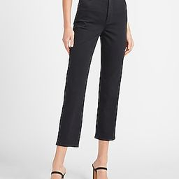 Super High Waisted Perfectly Polished Black Straight Jeans | Express