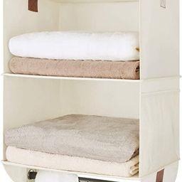 StorageWorks Hanging Closet Organizer with Garment Rod, 2 Section Jumbo Closet Hanging Shelves, C... | Amazon (US)
